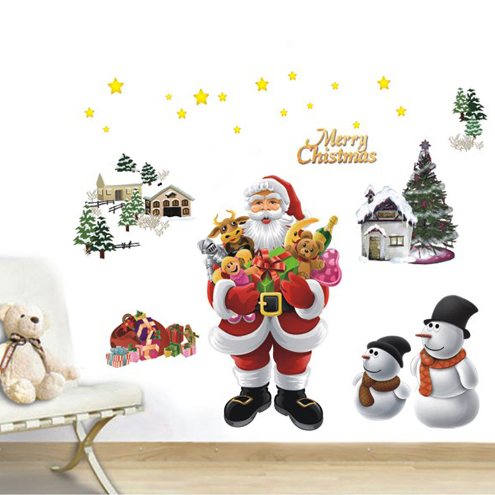 Christmas Bells Removable Wall Sticker Adornment Wall Glass Window Decoration