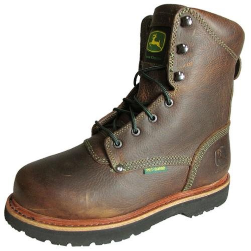 John Deere Womens JD3362 Steel Toe Lace Up Safety Boot Shoe, Brown, US 8