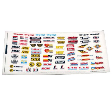 Traxxas 2514 Racing Sponsors Decal Sheet