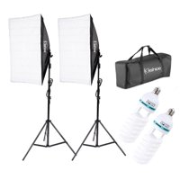 Zimtown 2Pcs Lighting Softbox Stand Photography Photo Equipment Soft Studio Light Kit
