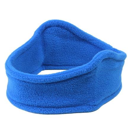 AMC Fleece Contoured Stretchy Ear Band / Headband / Earmuffs, Royal - Red Bunny Ears