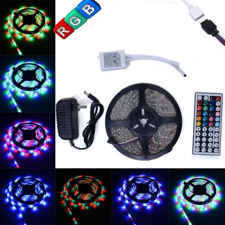 Ktaxon LED Strip Light 16.4Ft 300 LED SMD3528 RGB Light String Kit Set for Home Car TV Background Decor