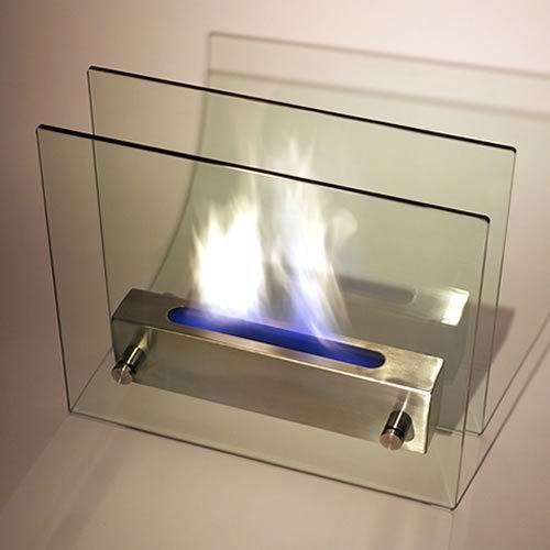 Nu-Flame Irradia Noir Portable Indoor Outdoor Ethanol Fireplace by Nu-Flame