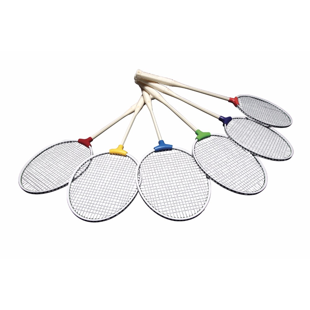 Pick-A-Paddle 1321029 Racquet Badminton Unbreakable Set Of 6