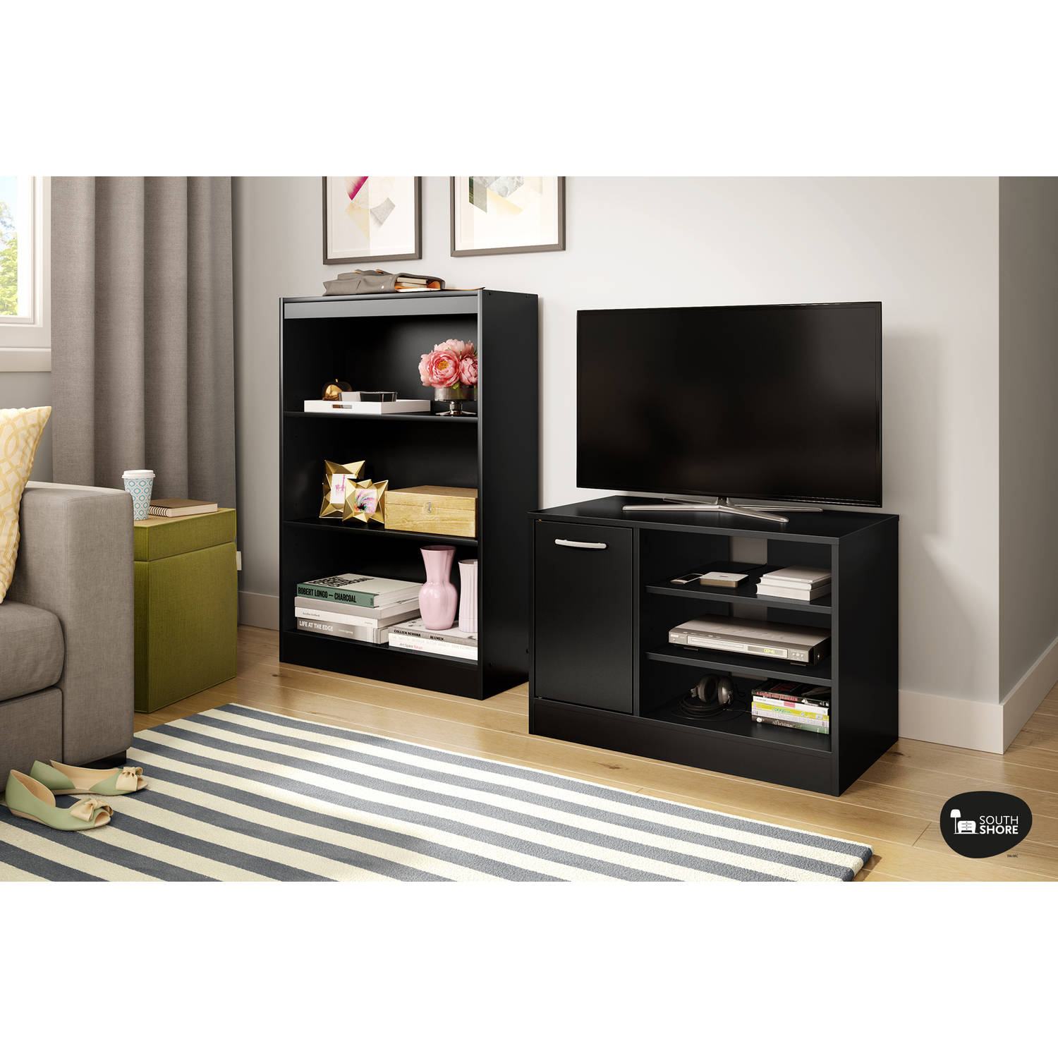 "South Shore Smart Basics TV Stand with Storage for TVs up to 42"", Multiple Finishes"