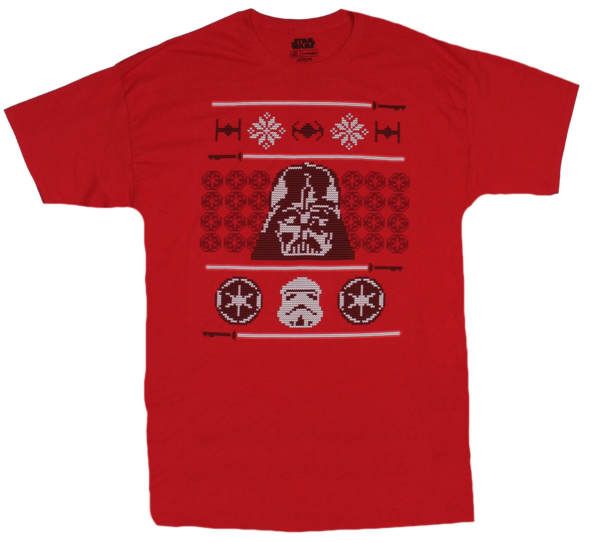 Star Wars Mens T-Shirt - Imperial Darth Vader Ugly Sweater Image
