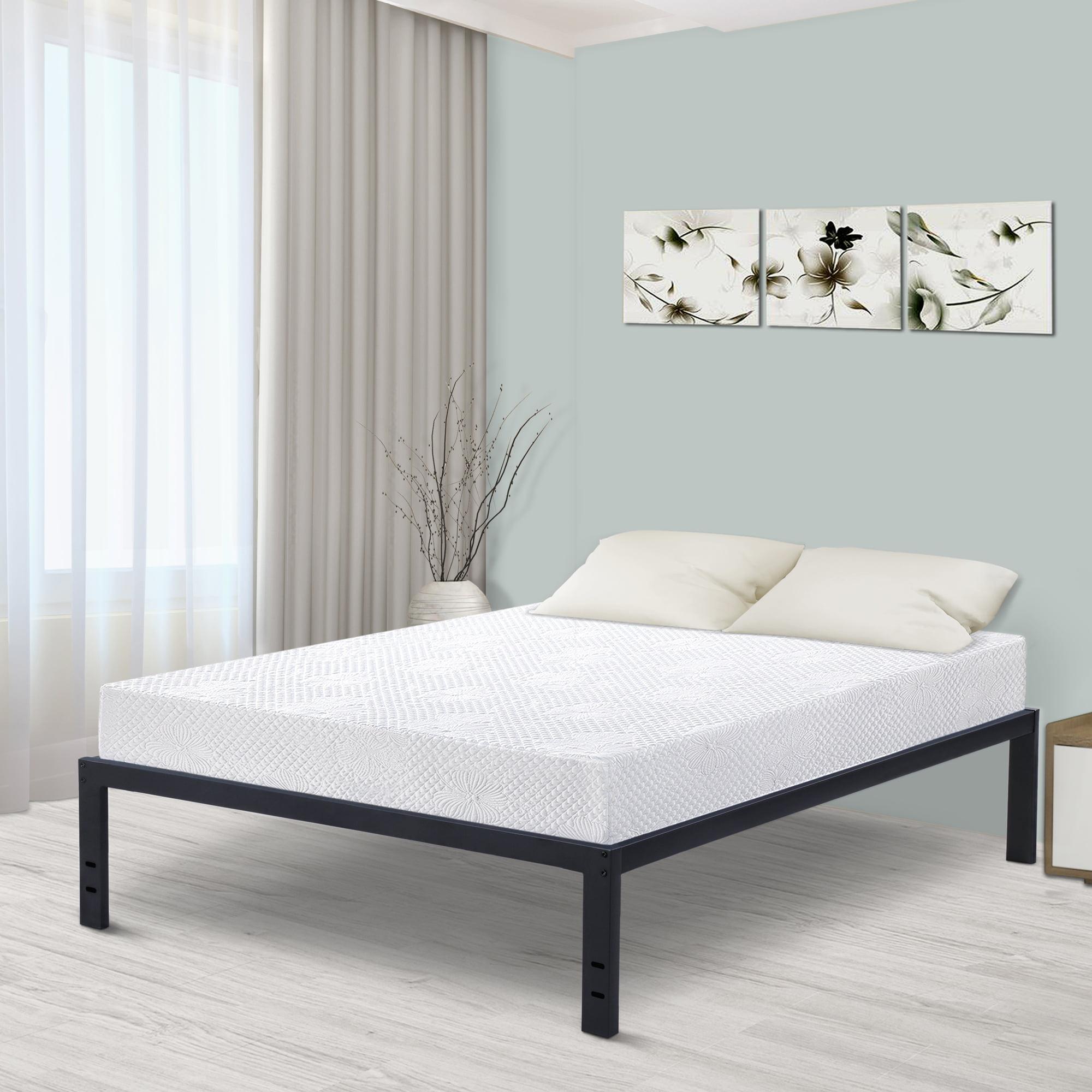 """GranRest 18"""" Metal Slat Platform Bed, Queen"""