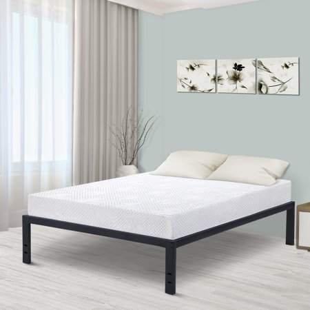 "GranRest 18"" Metal Slat Platform Bed, Queen"