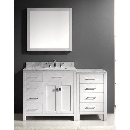 Virtu Ms 2157L Wmsq Gr 001 Caroline Parkway 57 Inch Single Bathroom Vanity Set In Grey