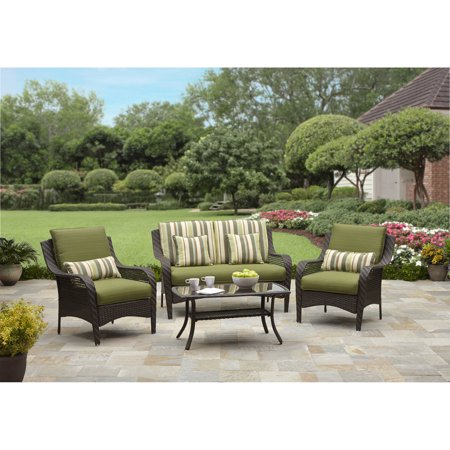 Better homes and gardens amelia cove 4 piece woven patio - Better homes and gardens patio cushions ...