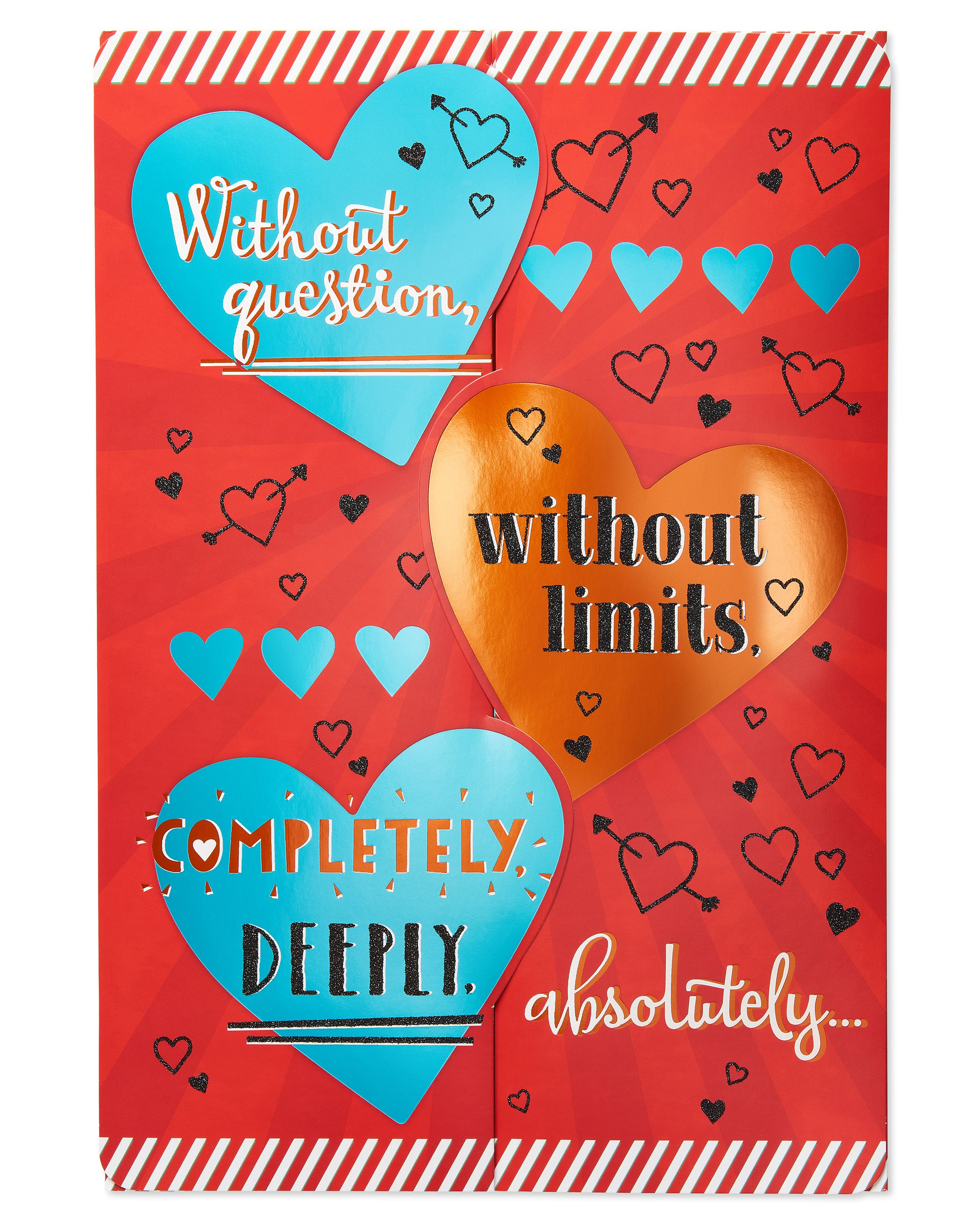 American Greetings Jumbo Without Question Valentineu0027s Day Card