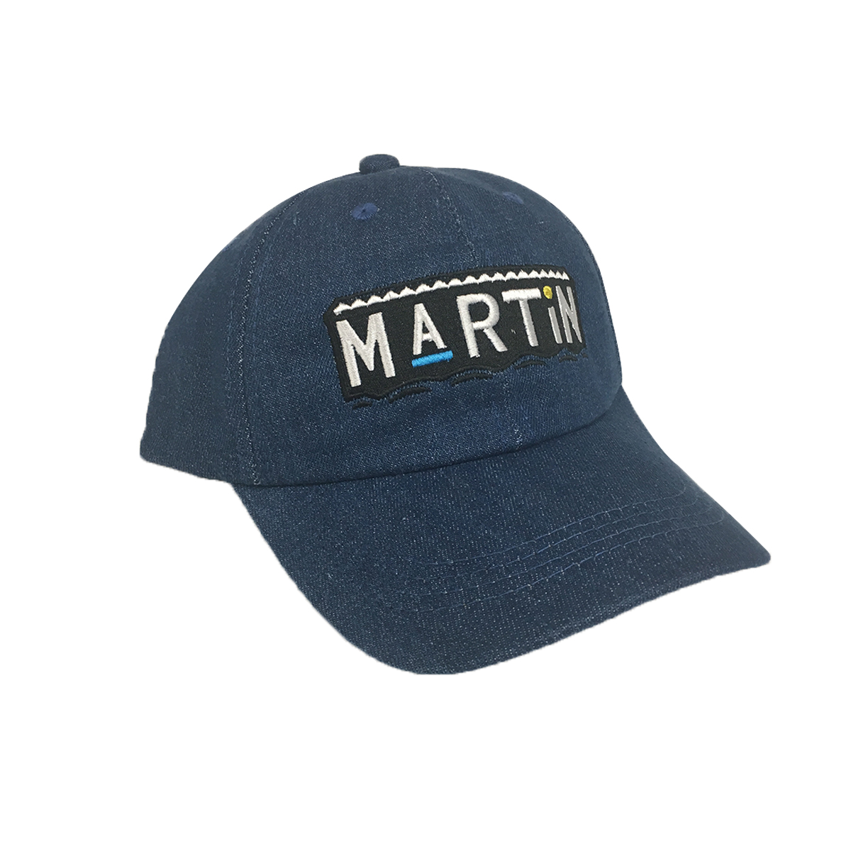 603c3015f82 Martin Blue Denim Hat Baseball Cap Buckle Dad TV Show 90s ...