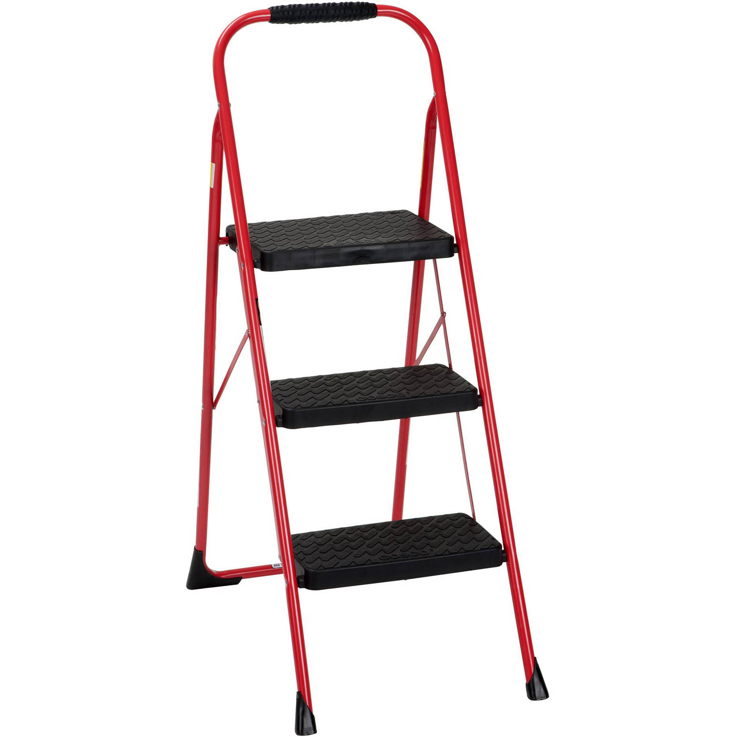 Cosco Three Step Big Step Folding Step Stool With Rubber