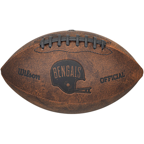 "Click here to buy Gulf Coast NFL Wilson 9"" Throwback Football, Cincinnati Bengals by Generic."