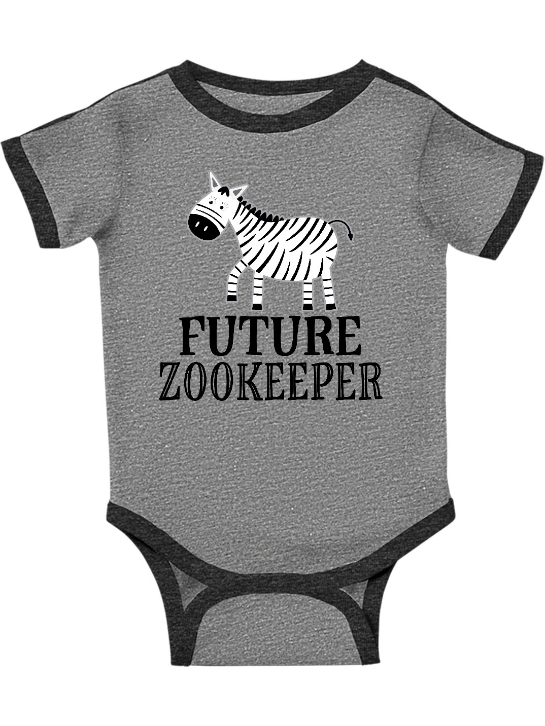 inktastic Zebra Jungle Birthday Long Sleeve Creeper