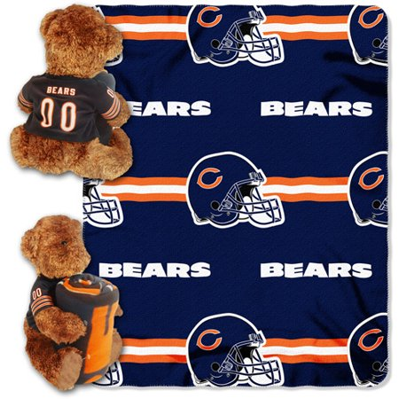 6739876eae9 NFL Chicago Bears Bear Throw Pillow Combo - Walmart.com