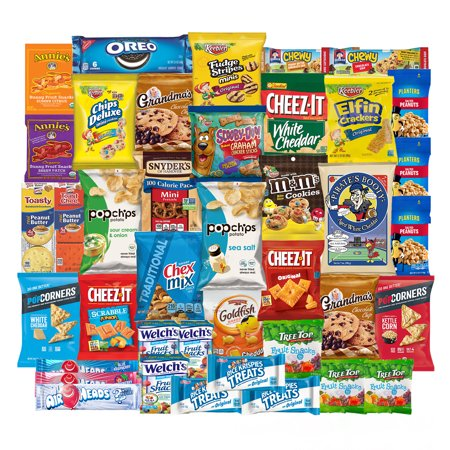 Back to School College Care Package Candies Chips and Cookies  Assortment Variety Pack Bundle Bulk Sampler (40 Count) SnackBOX (Halloween College Care Package Ideas)