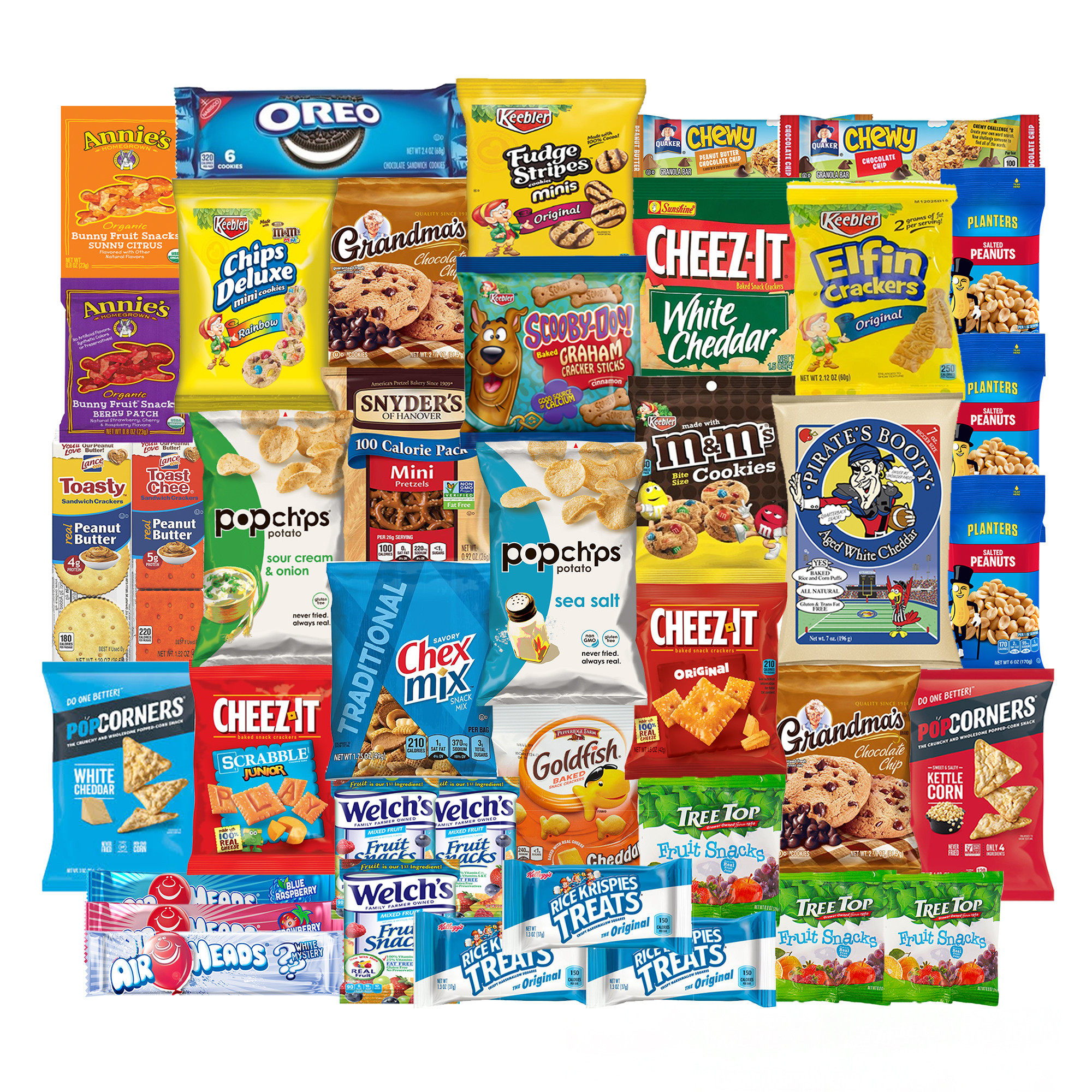 Back to School College Care Package Candies Chips and Cookies  Assortment Variety Pack Bundle Bulk Sampler (40 Count) SnackBOX