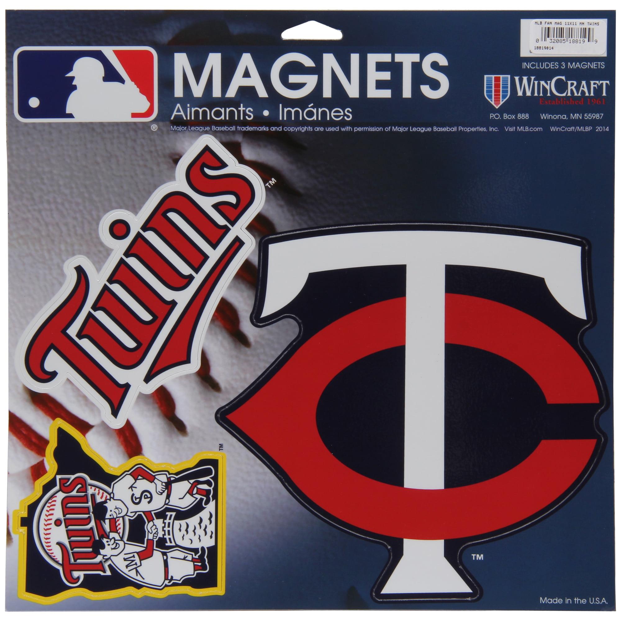 "Minnesota Twins WinCraft 11"" X 11"" 3-pack Car Magnets - No Size"