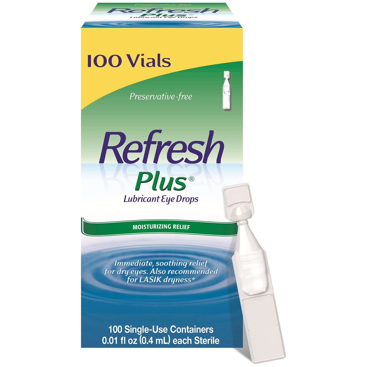 Refresh Plus® Lubricant Eye Drops Sensitive 100 ct. Box