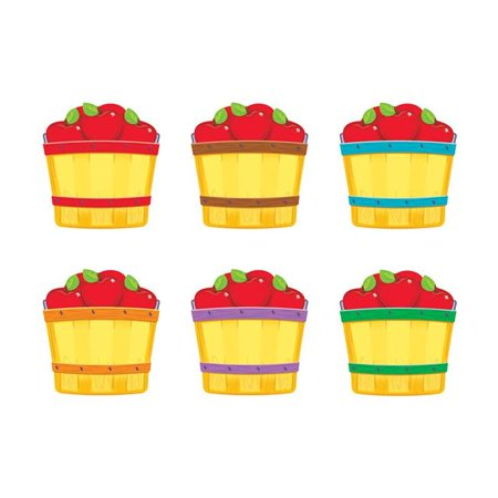 Trend Enterprises T-10855-6 Apple Baskets Mini Accents Variety Pack - Pack of 6 Mini Accents Apple