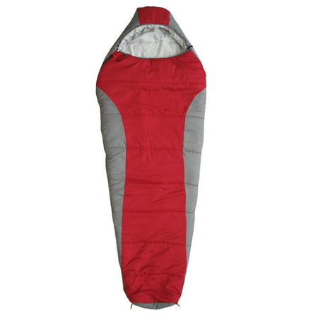 Ozark Trail 10F with Soft liner camping Mummy Sleeping Bag for Adults, Red