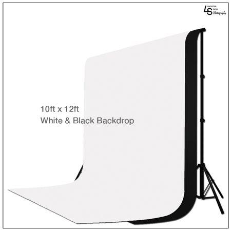 Loadstone Studio 10 ft X 12 ft Black & White Chromakey Photo Video Photography Studio Fabric Backdrop Background Screen, WMLS1560](Black And White Halloween Background)