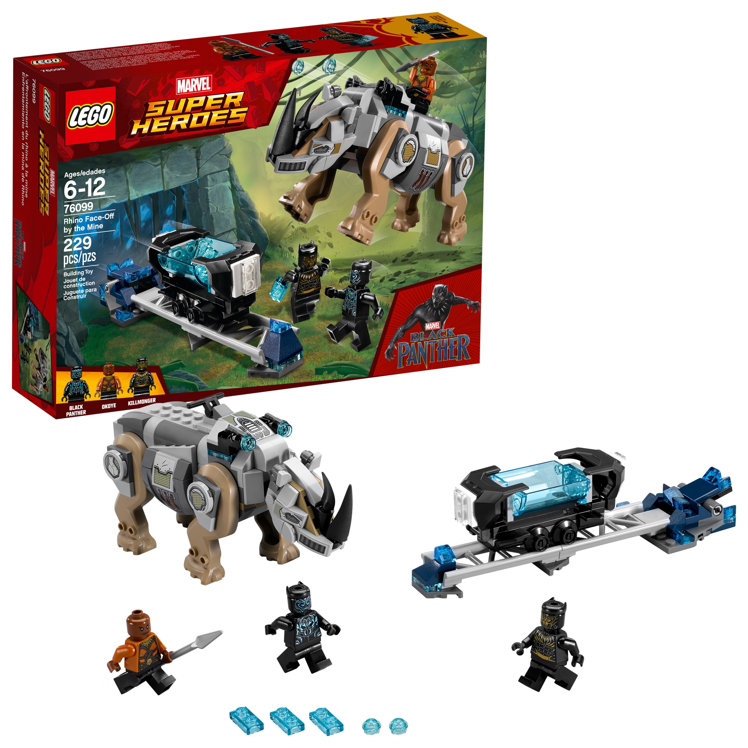 LEGO Super Heroes Black Panther Rhino Face-Off by the Mine 76099