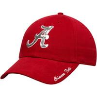 Women's Crimson Alabama Crimson Tide Sparkle Adjustable Hat - OSFA