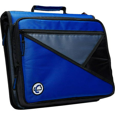 Case-It Universal 2-Inch Zipper Binder, Holds 13 Inch Laptop, Blue, (Non Laptop Cases)