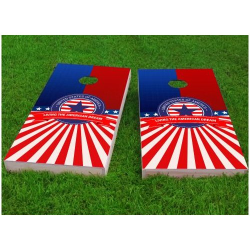 Custom Cornhole Boards America Theme Cornhole Game (Set of 2) by Custom Cornhole Boards