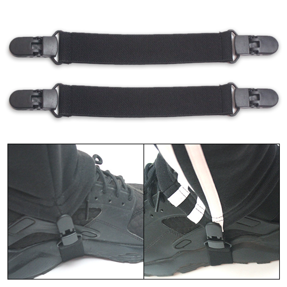 6PCS Adjustable Elastic Boot Strap Pant Clips Casual for Motorcycle Leg