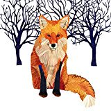 Paperproducts Design Winter Solstice Fox Beverage Cocktail Paper Napkin, (Winter Napkins)