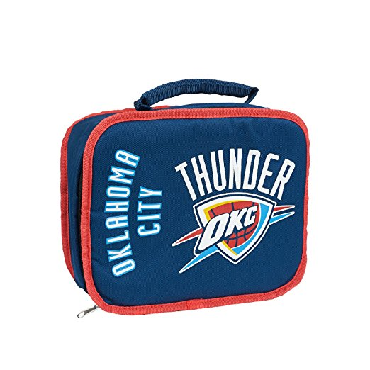 """NBA Oklahoma City Thunder """"Sacked"""" 10.5""""L x 8.5""""H x 4""""W Lunch Cooler"""