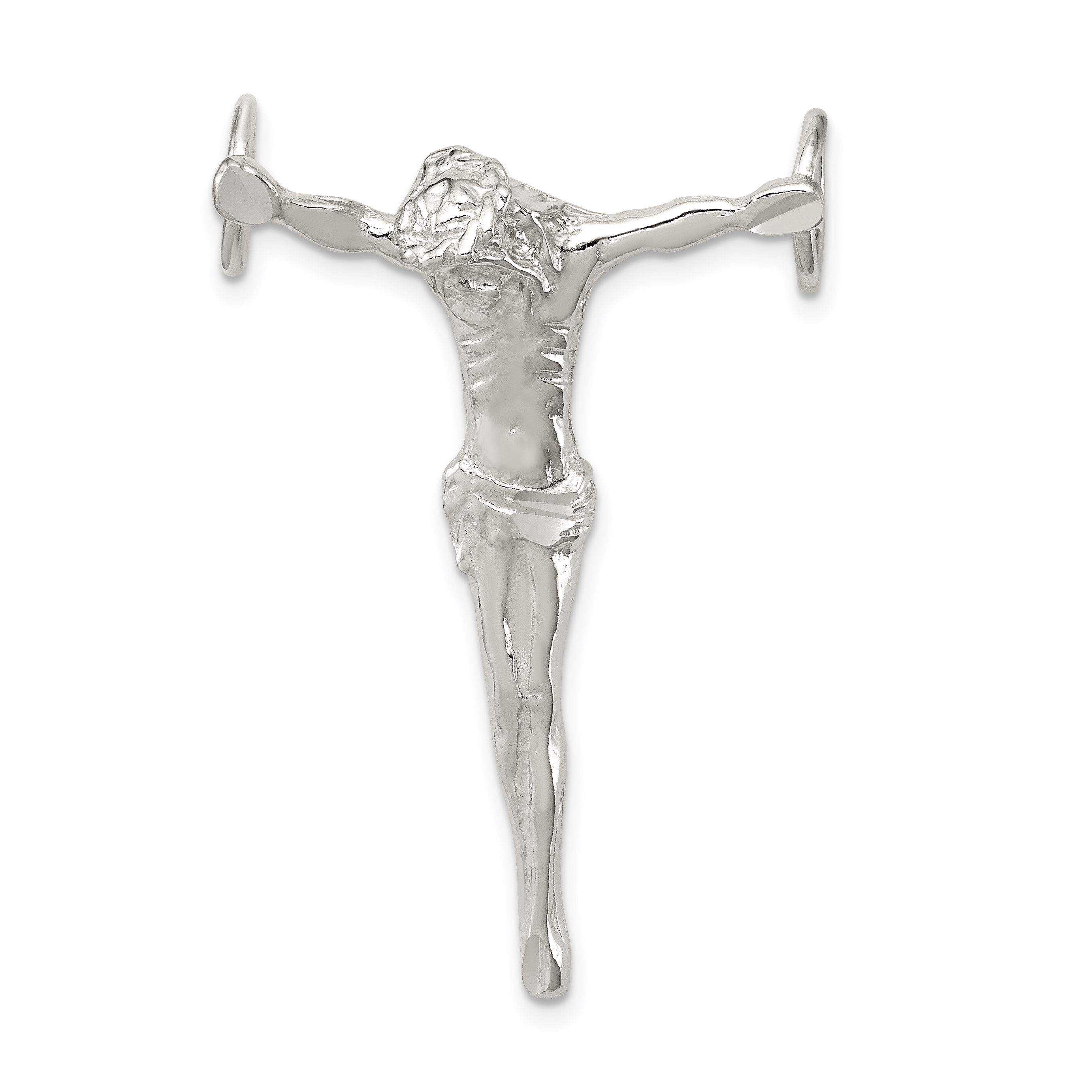 925 Sterling Silver Jesus Cross Religious Large Pendant Charm Necklace Fine Jewelry Gifts For Women For Her