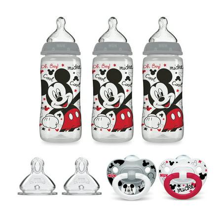 NUK Mickey Mouse Bottle & Pacifier Newborn Set (Mouse Bottle)