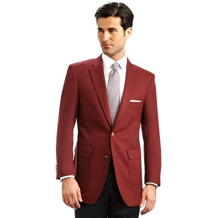 f10d6fbe0ee Suit USA - Men s Elegant Classic 2 Button Blazer Sport Jacket - Burgundy