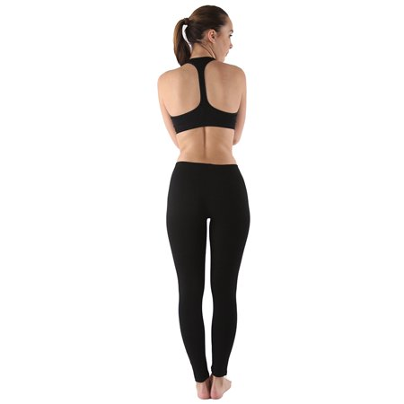 Womens Basic Cotton Blend Soft and Comfortable Leggings