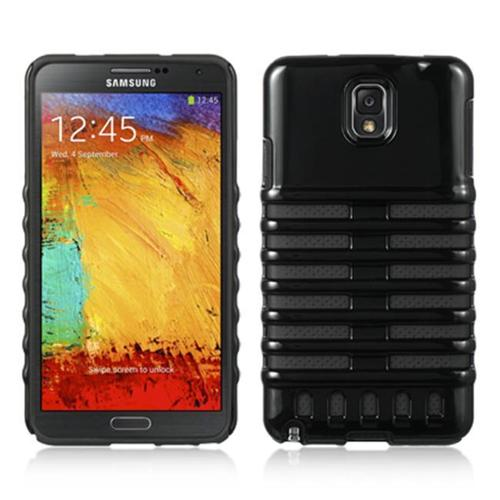 BLACK RETRO MICROPHONE SKELETON SKIN CASE COVER FOR SAMSUNG GALAXY NOTE 3 III