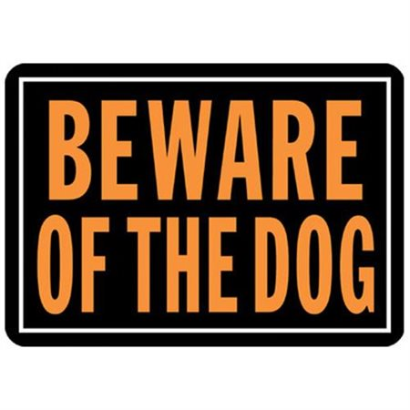 Outdoor Garden Sign (Beware of The Dog Sign (Set of)