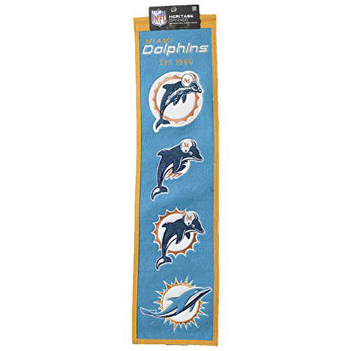 NFL Maimi Dolphins Heritage Banner
