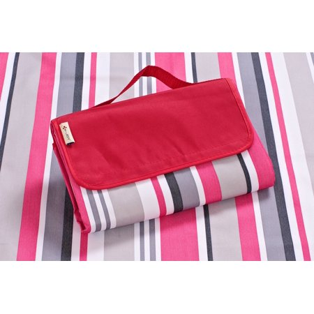 Gtex Outdoor campaign waterproof Beach Blanket ,picnic blanket Mat 1PC Red Stripe color by e-joy