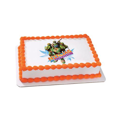 Ninja Turtles Quarter Sheet Edible Cake Topper Each Party