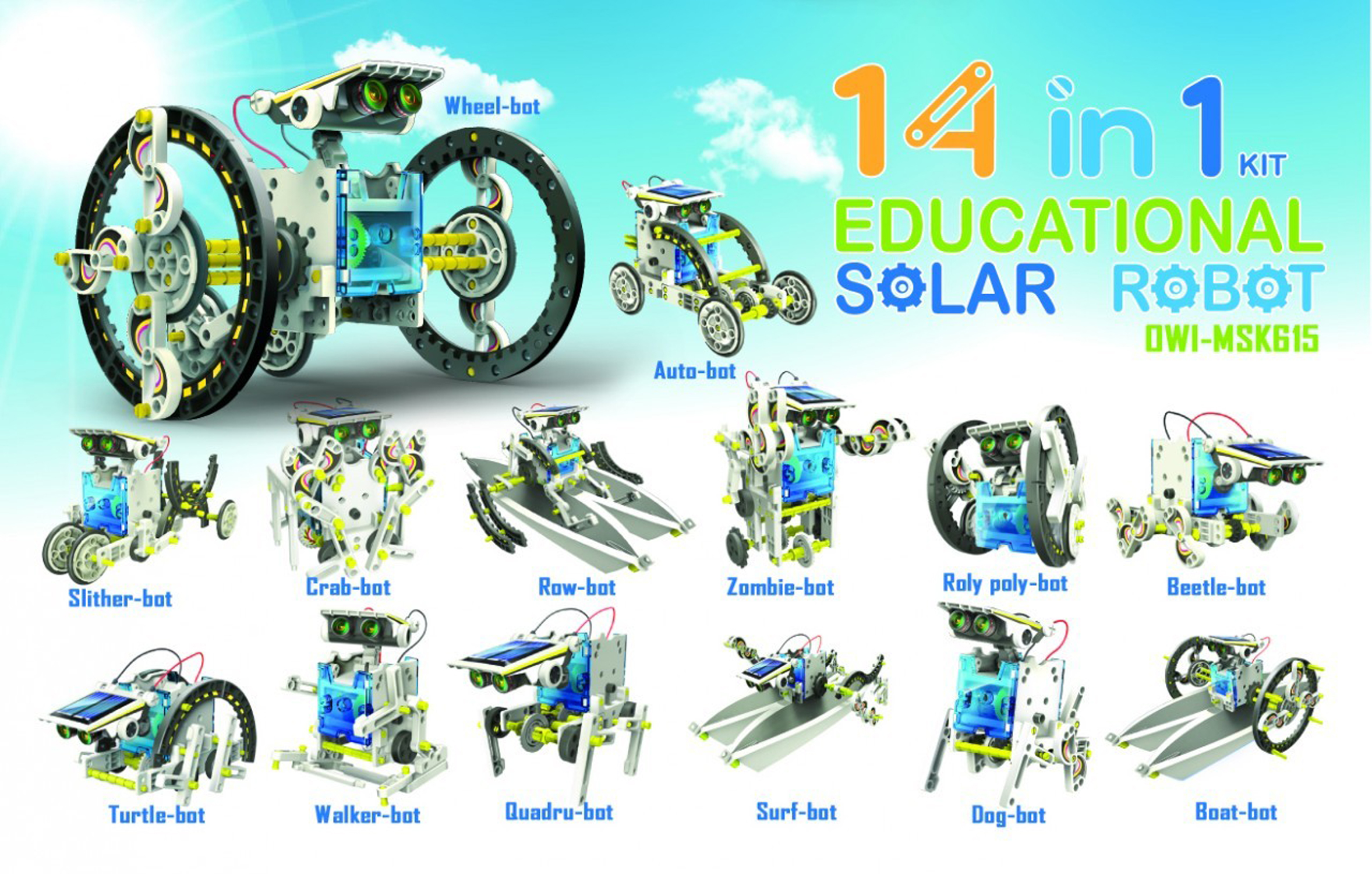 OWI 14-in-1 Solar Robot New Free Shipping