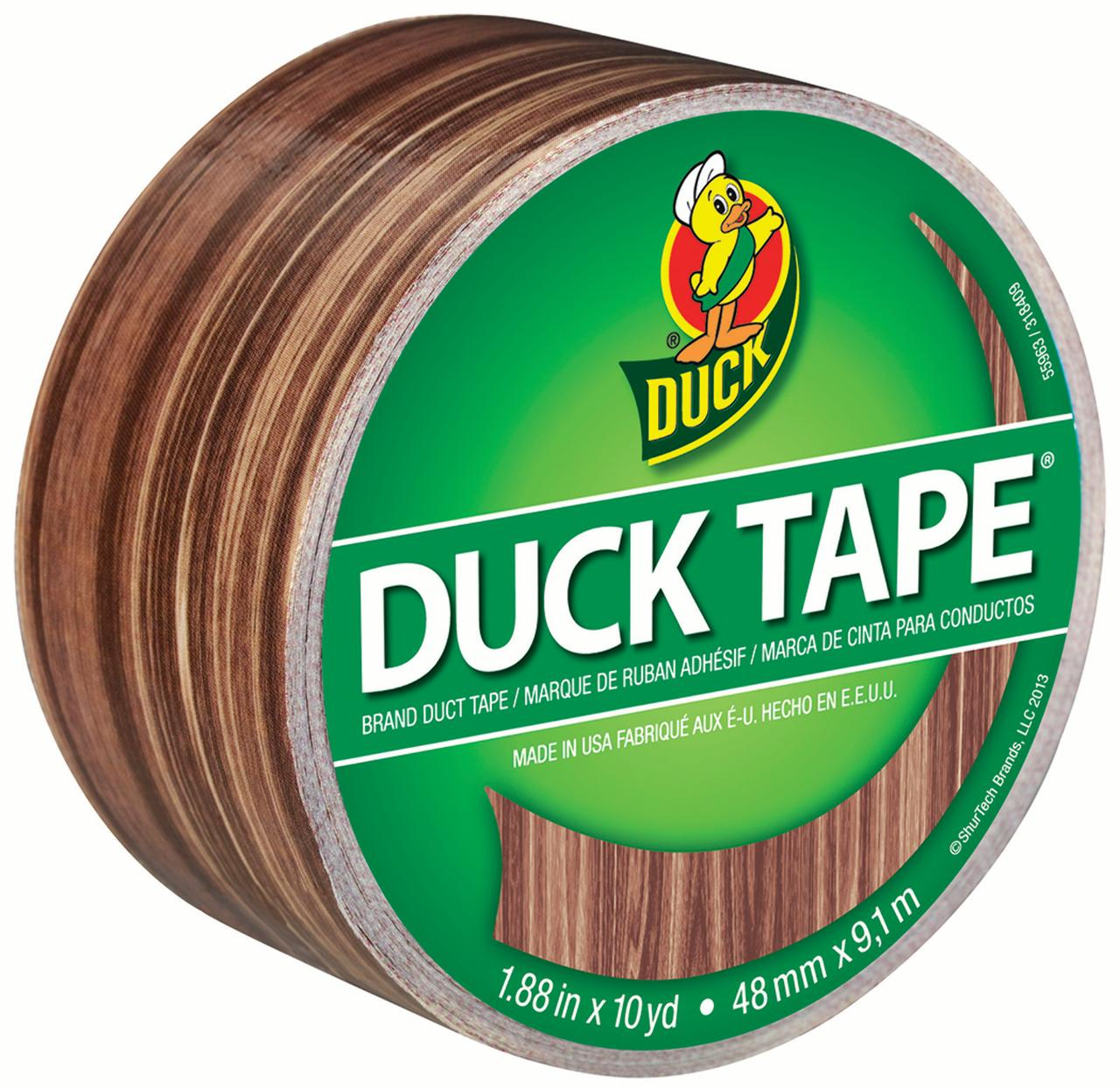 "Duck Tape Patterned Duck Tape, 1.88"" x 10 yds., Woodgrain"