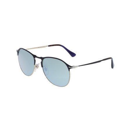 Persol Men's PO7649S-107330-56 Blue Aviator Sunglasses