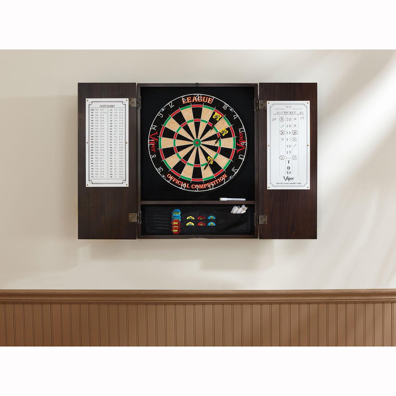 Scheiben Viper Metropolitan Cinnamon Dart Board Cabinet Solid Pine