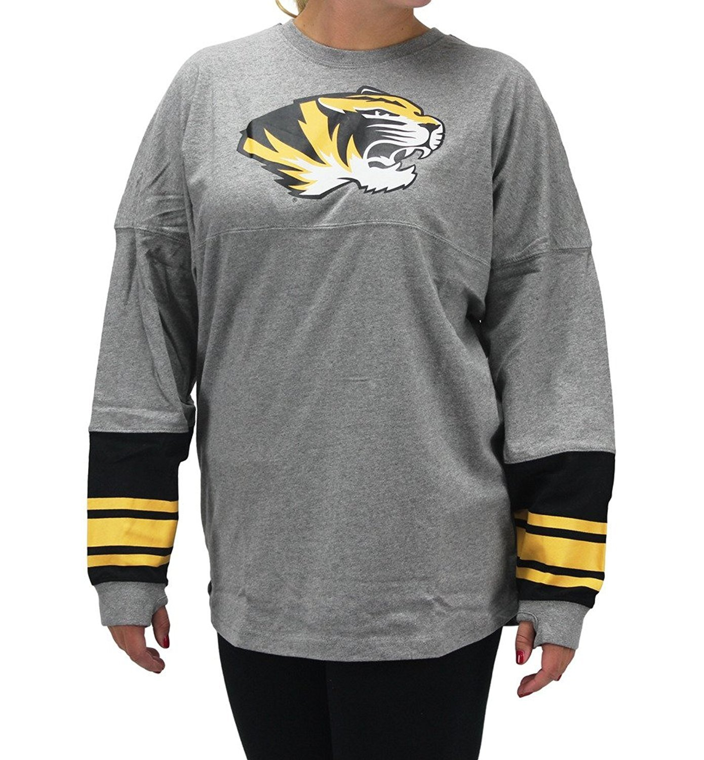 Pressbox Women' s Missouri Tigers Sweeper Grey Shirt