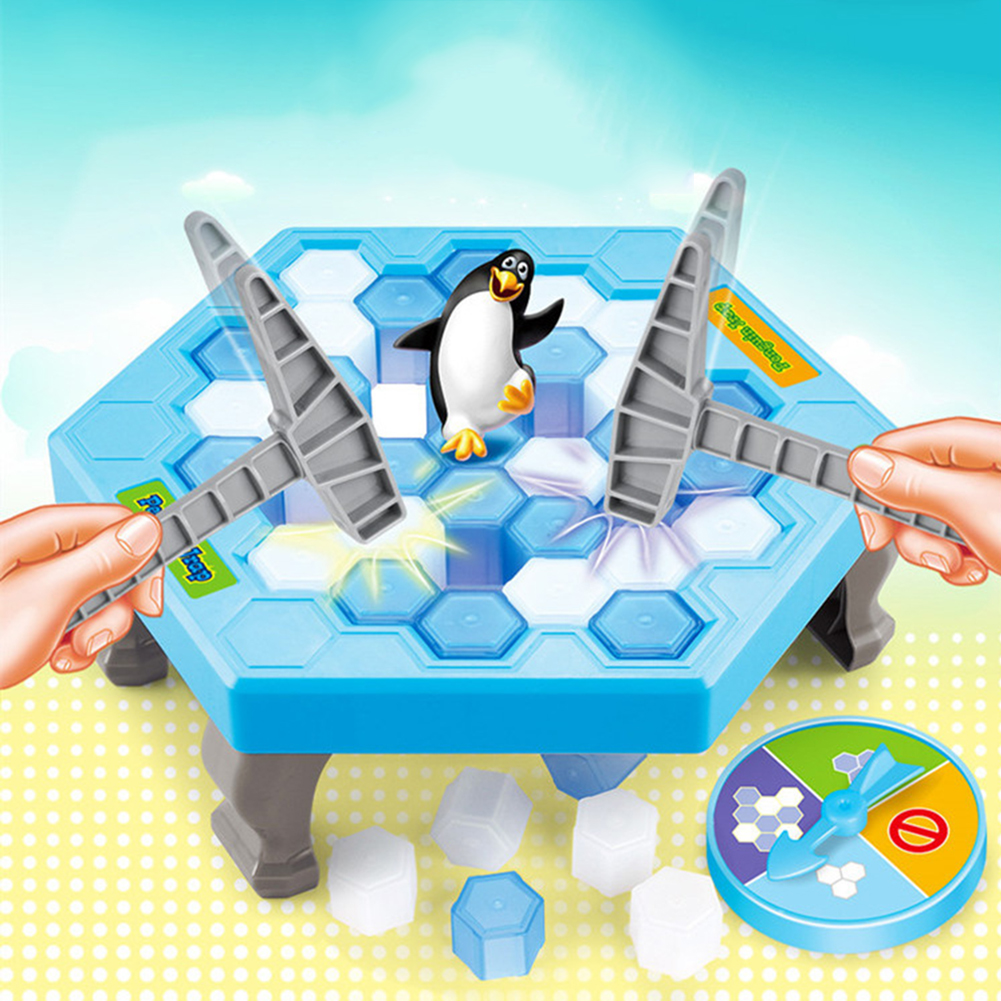 Girl12Queen Save Penguin Ice Block Breaker Trap Toys Funny Parent Children Kids Table Game