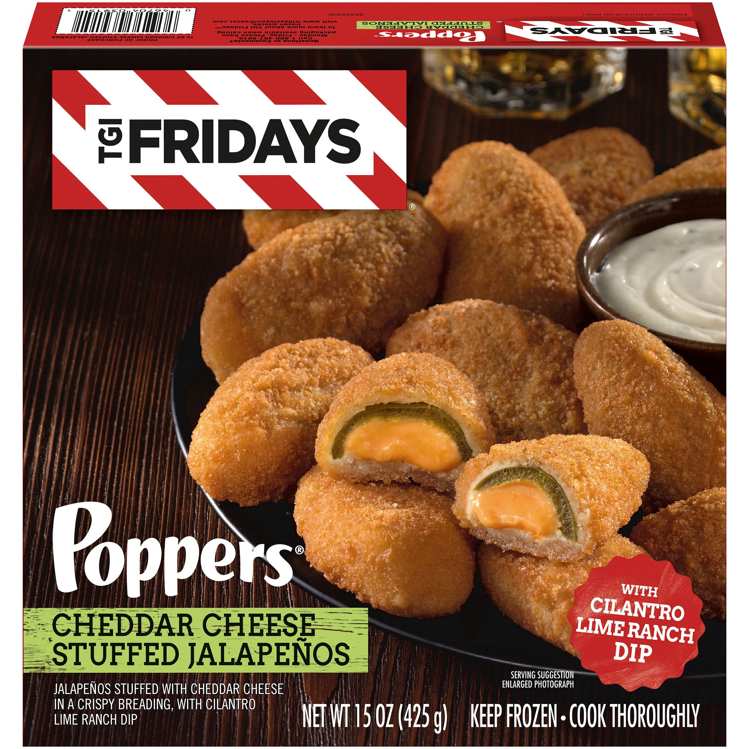 Tgi Fridays Cheddar Cheese Stuffed Jalapeno Poppers With